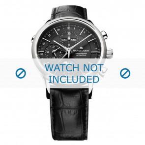 Horlogeband Maurice Lacroix LC6078-SS001-331 / 800-000242 Leder Zwart 20mm