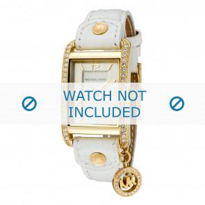 Horlogeband Michael Kors MK2213 Taylor Leder Wit 18mm