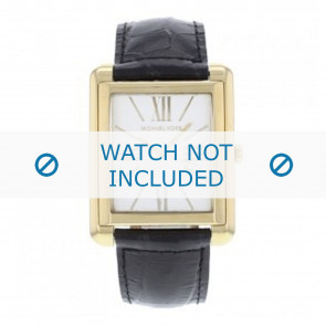 Horlogeband Michael Kors MK2240 Leder Zwart 24mm