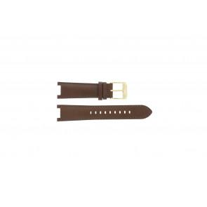 Michael Kors horlogeband MK2249 Leder Bruin 20mm + bruin stiksel