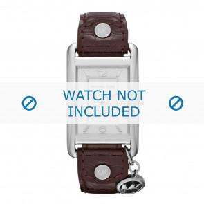 Michael Kors horlogeband MK2262 Leder Bruin 18mm + standaard stiksel