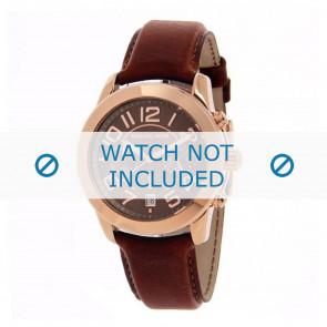 Michael Kors horlogeband MK2265 Leder Lichtbruin 22mm + bruin stiksel