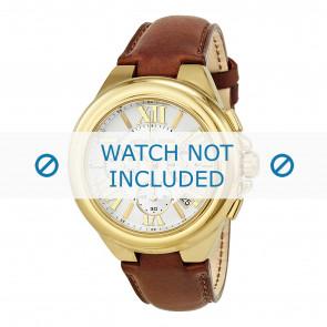 Michael Kors horlogeband MK2266 Leder Lichtbruin 22mm + bruin stiksel