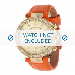 Michael Kors horlogeband MK2279 Parker Leder Oranje 20mm + oranje stiksel