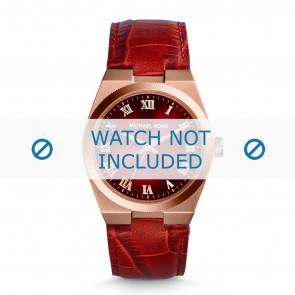 Michael Kors horlogeband MK2357 Croco leder Rood + rood stiksel