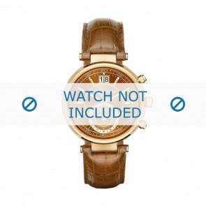Horlogeband Michael Kors MK2424 Croco leder Cognac 12mm