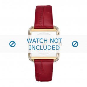 Michael Kors horlogeband MK2623 Leder Rood 20mm