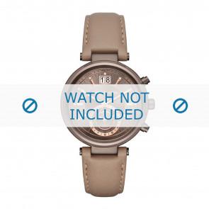 Horlogeband Michael Kors MK2629 Leder Taupe 12mm