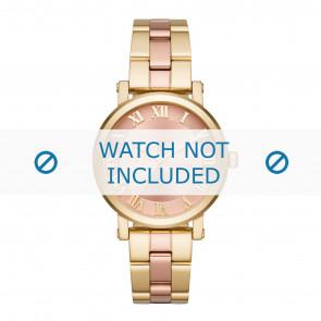 Michael Kors horlogeband MK3586 Staal Goud 18mm