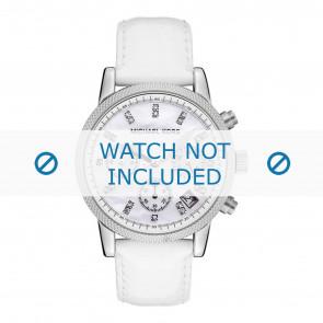 Horlogeband Michael Kors MK5049 Leder Wit 20mm