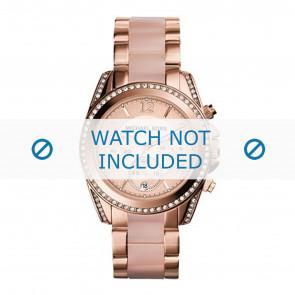 Michael Kors horlogeband MK6349 Staal Rosé