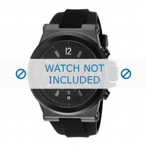 Horlogeband Michael Kors MK8152 Rubber Zwart 13mm