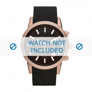 Horlogeband Michael Kors MK8244 Rubber Zwart 22mm