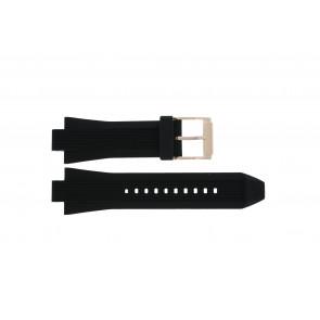Horlogeband Michael Kors MK8184 Rubber Zwart 13mm