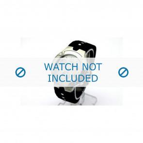 Horlogeband Movado 84C51892.0 / 569304981 / 4981 Rubber Zwart 7mm