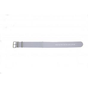 Horlogeband Universeel EX-WG34 Textiel Wit 20mm