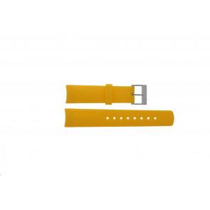 Horlogeband Nautica 31507G Rubber Geel 22mm