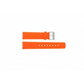 Horlogeband Nautica A16567G / A16567G / A31505G / N14538G / N19523 Rubber Oranje 22mm