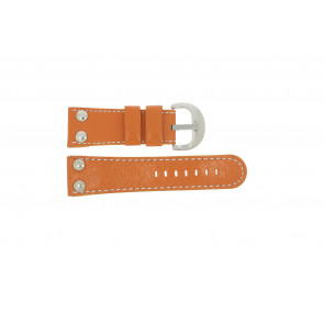 Horlogeband Universeel OVR-ORANJE-28MM Leder Oranje 28mm