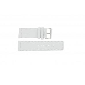Horlogeband Universeel OOZOO-WIT-28MM Leder Wit 28mm