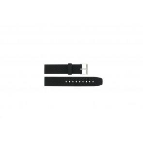 Horlogeband PU.102 Kunststof/Plastic Zwart 20mm