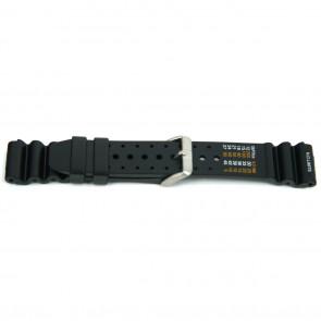 Horlogeband XF13 / Citizen Rubber Zwart 18mm