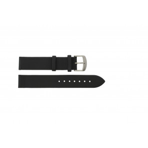 Horlogeband 605.01.20 Titan Buckle Leder Zwart 20mm