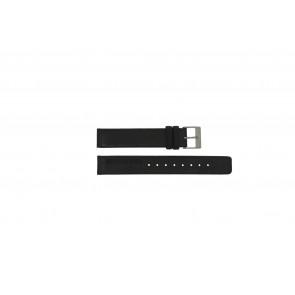 Rolf Cremer horlogeband Spirale II Bl Leder Zwart 16mm