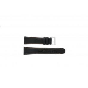 Horlogeband Seiko 7T62-0HL0 Leder Zwart 24mm