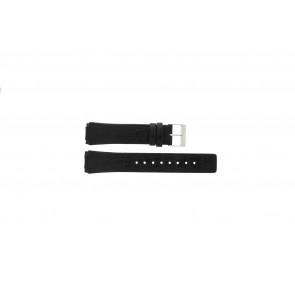 Horlogeband Skagen 331XLSLB / Croc immitation Croco leder Zwart 20mm