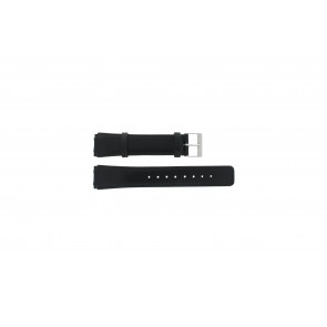 Skagen horlogeband 331XLSLB / 331XLSLC Glad leder Zwart 20mm