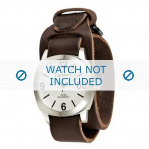 Superdry horlogeband SYG101TW Leder Donkerbruin