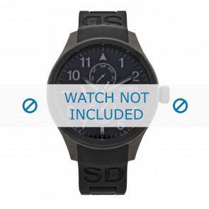 Horlogeband Superdry SYG110B Silicoon Zwart 20mm