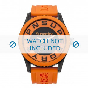 Horlogeband Superdry SYG145O Silicoon Oranje 24mm