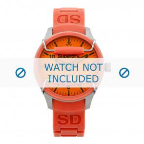 Horlogeband Superdry SYL125PP Silicoon Oranje 18mm