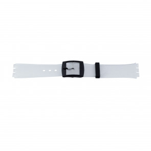 Horlogeband Swatch (alt.) 51.00 Kunststof/Plastic Transparant 17mm