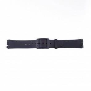 Horlogeband Swatch (alt.) P51 Kunststof/Plastic Zwart 17mm