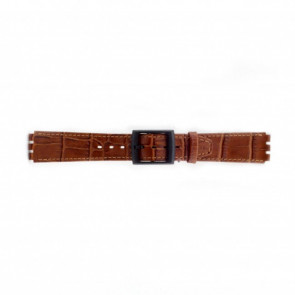 Horlogeband Swatch (alt.) SC16.03 Leder Bruin 16mm