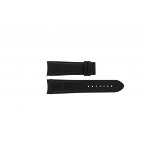 Horlogeband Tissot T035.617.A / T610027446 Leder Zwart 23mm