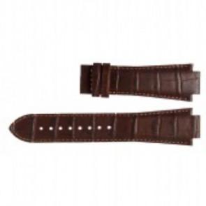 Horlogeband Tissot L875-975 - T610.451.2318 / T610014559 Leder Donkerbruin 15mm