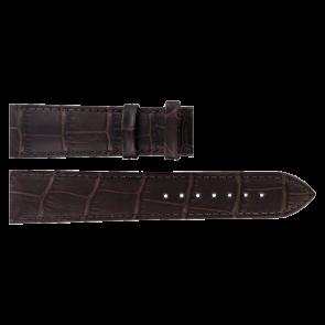 Tissot horlogeband T063.610.36.038.00-T610031949 Leder Donkerbruin 20mm + bruin stiksel