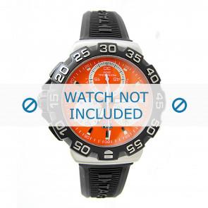 Tag Heuer horlogeband CAH1113 / RRF6383 / BT0714 Rubber Zwart 20mm