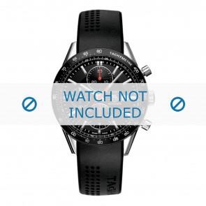 Horlogeband Tag Heuer FT6014 / CV2014 / BT6015 20x3mm Rubber Zwart 20mm