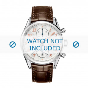 Tag Heuer horlogeband CAR2150.FC6291 / CAR2110 / CAR2110 / WAR5011 / CAS2111 / CAS2111 / CAS2150 / CV2013 / WAR201B / WAR201C / WAR201D / WAR5012 Leder Bruin 20mm + bruin stiksel