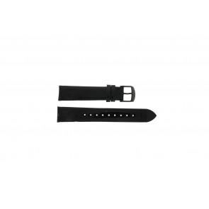 Timex horlogeband T2N790 Leder Zwart 18mm