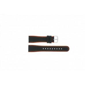 Timex horlogeband T2N428 Leder Zwart 22mm