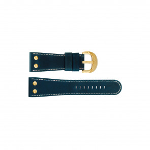 Horlogeband TW Steel TW72 / TWB72 Leder Blauw 30mm
