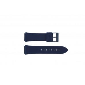 Guess horlogeband W0247G3 / U0247G3 / C0001G1 Silicoon Blauw 22mm