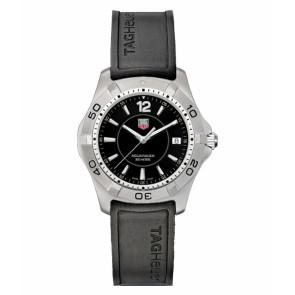 Horlogeband Tag Heuer WAF1110 / BT0709 Rubber Zwart 20mm