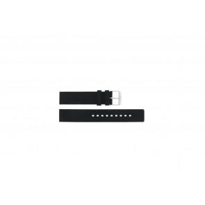 Horlogeband Universeel 21901.10.18 / 6826 Silicoon Zwart 18mm